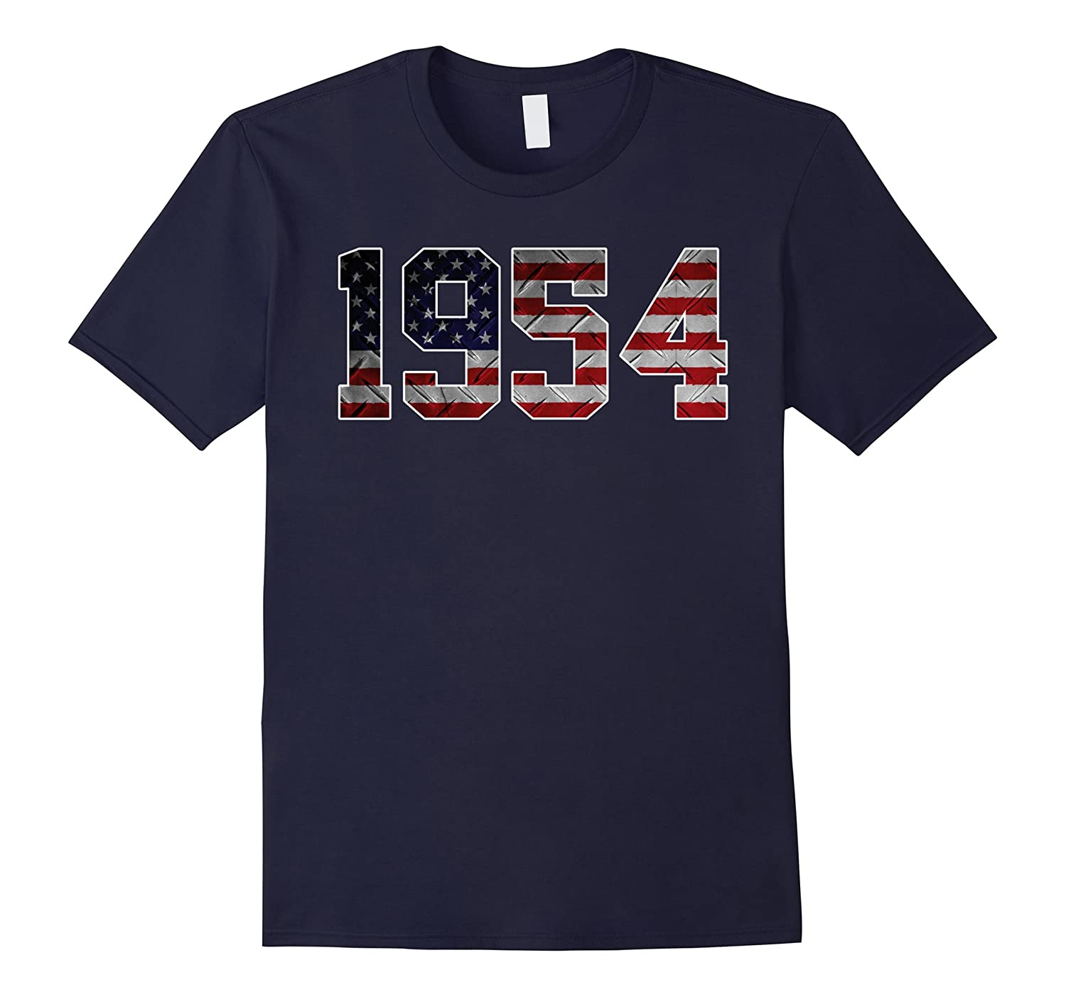 1954 American Flag T-shirt 63rd Birthday Gifts-PL