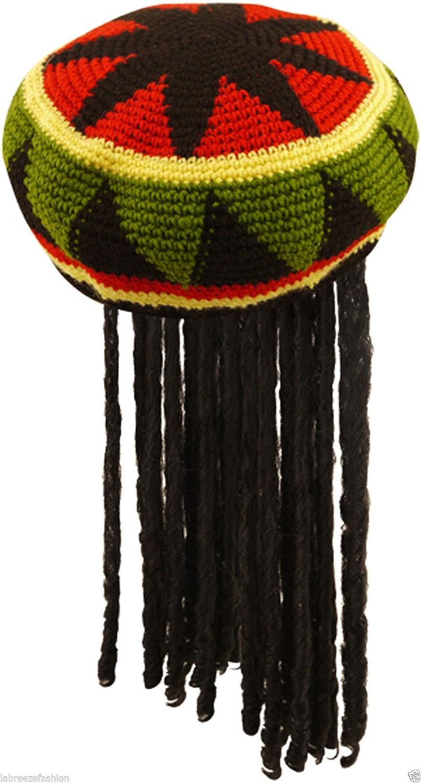 cbef7c1ae70b6 Mesdames Unisexe pour adulte Perruque Chapeau jamaïcain avec dreadlocks –  Bob Marley – Fancy Dress Best