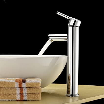 Amazon.com: Above Counter Bathroom Sink Faucet Combo Single Handle ...