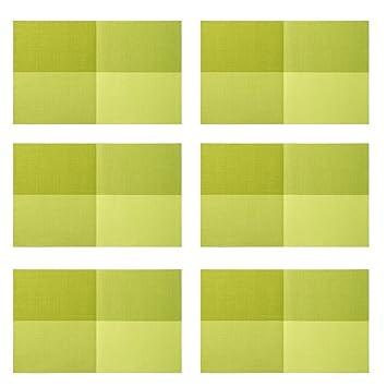 Pvc Tischsets Grün Famibay Vintage Platzsets Abwaschbar 6er Set