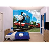 "Walltastic ""Thomas and Friends"" Wallpaper Mural, Paper, 8 x 10 ft"