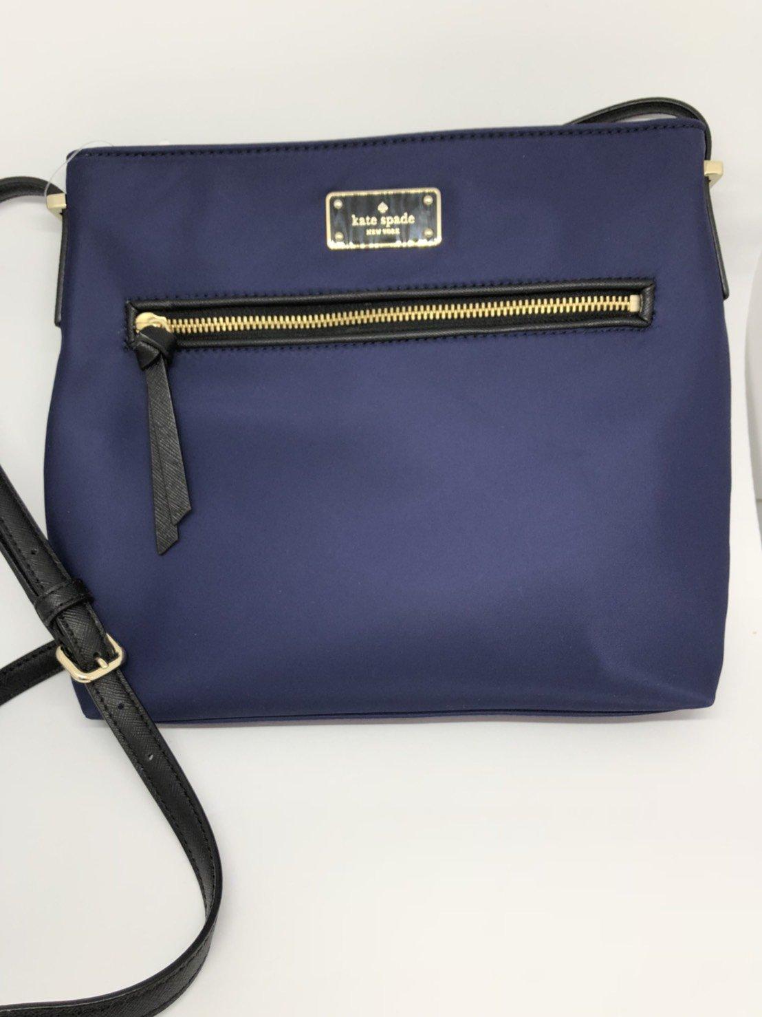 Kate Spade Wilson Road Nylon Dessi Nylon Crossbody Handbag (French Navy)