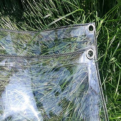 Lonas Espesar Lona Transparente Lona Impermeable PVC Transparente Plástico Cobertizo de Tela Invernadero Cubiertas de lámina