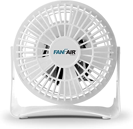 Amazon Com Fanfair Mini High Velocity Personal Fan 4 Inch Fan Quiet Cooling Tilt Up And Down Floor Fans Safe For Bedroom Home Or Office Use White Kitchen Dining