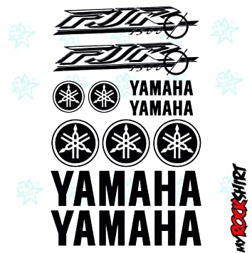 Yamaha FJR 1300 Set 30x20 Cm Aufkleber Sticker Tuning Bike Motorrad Sponsor Logos