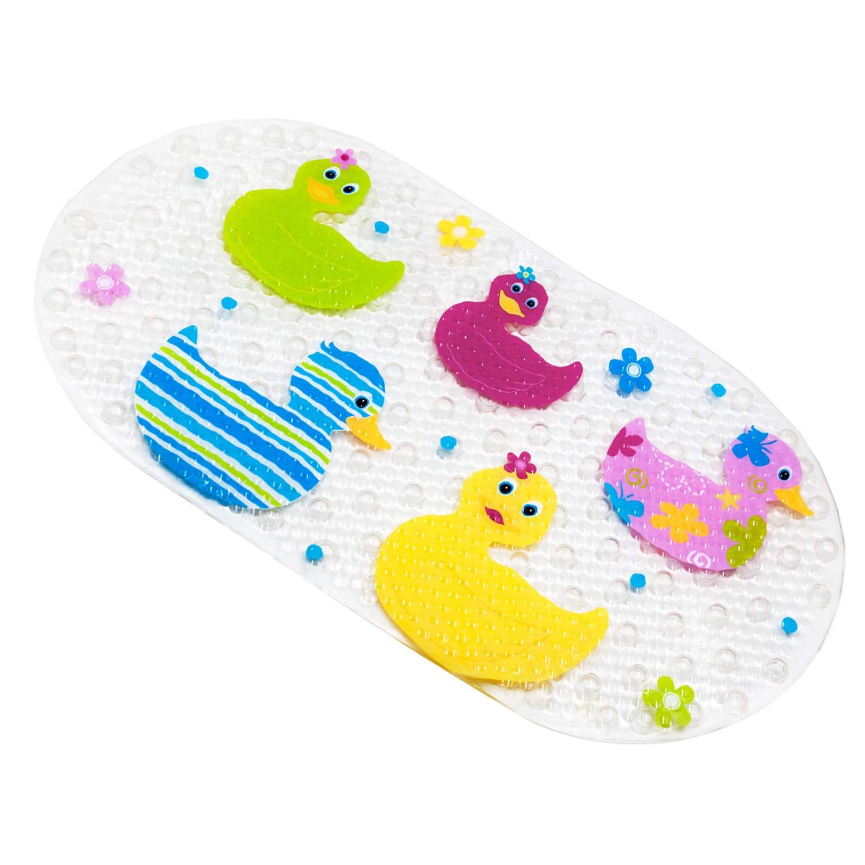 Anti-scivolo BliGli scendibagno PVC Caricatura massaggio doccia scendibagno con ventose modello per bambini 39 x 69 cm Baby Ducks BM-3969