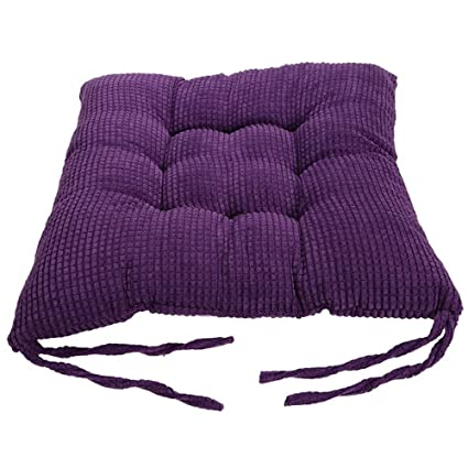 Didihou Chair Cushion Seat Pad Soft Thick Square Seat Cushions Pillows With  Ties For Kitchen Office