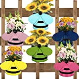 ATHENACREATIONS Set of 6 - Bee Planters | Planter Pot with Hanger | Gamla | Hanging Planter Basket for Home and Balcony Light Pink,Yellow,Blue,Green,Pink,Teal