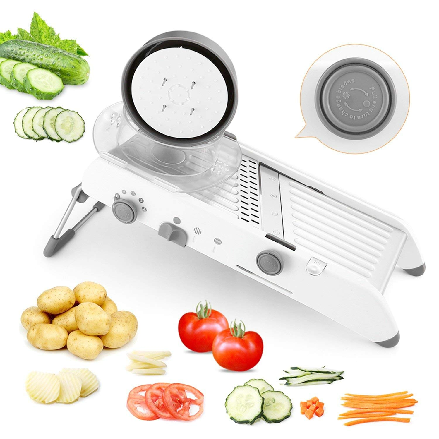 Vegetable Cutter Multi-Function Vegetable Processor Manual Vegetable Cutter Food Chopper Grater Slicer Grinder Multi-Purpose Kitchen Accessories by LAOLIU