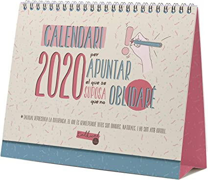 Finocam - Calendario de sobremesa Talkual 2020 catalán: Amazon.es ...