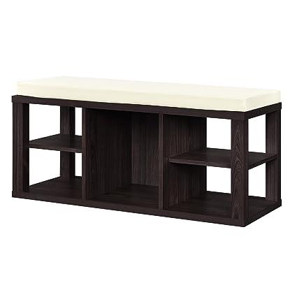 Superb Ameriwood Home Parsons Storage Bench Espresso Camellatalisay Diy Chair Ideas Camellatalisaycom