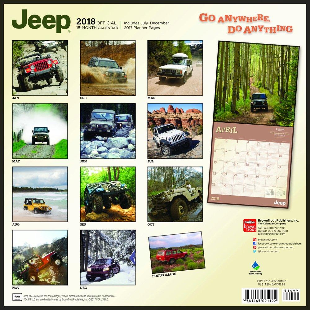 jeep calendar 2018