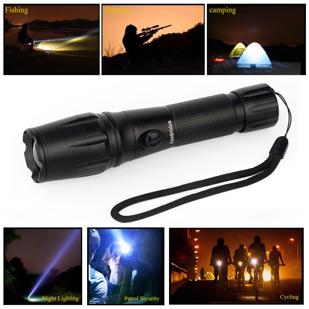 Amz vision Flashlights Rechargeable, Super Bright Portable ...