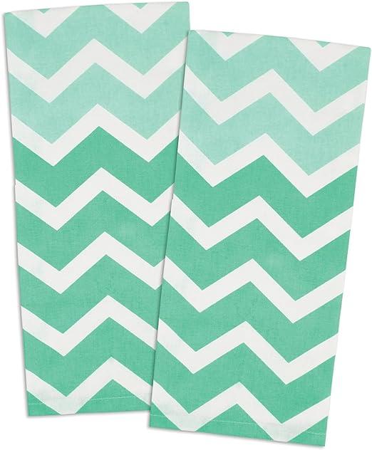 "Happy Birthday Dish Towel 100/% Cotton New Chevron Pattern Tea 18/"" x 28/"""
