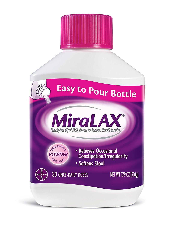 MiraLAX Powder 17.90 oz (4 Pack, 30 Doses)