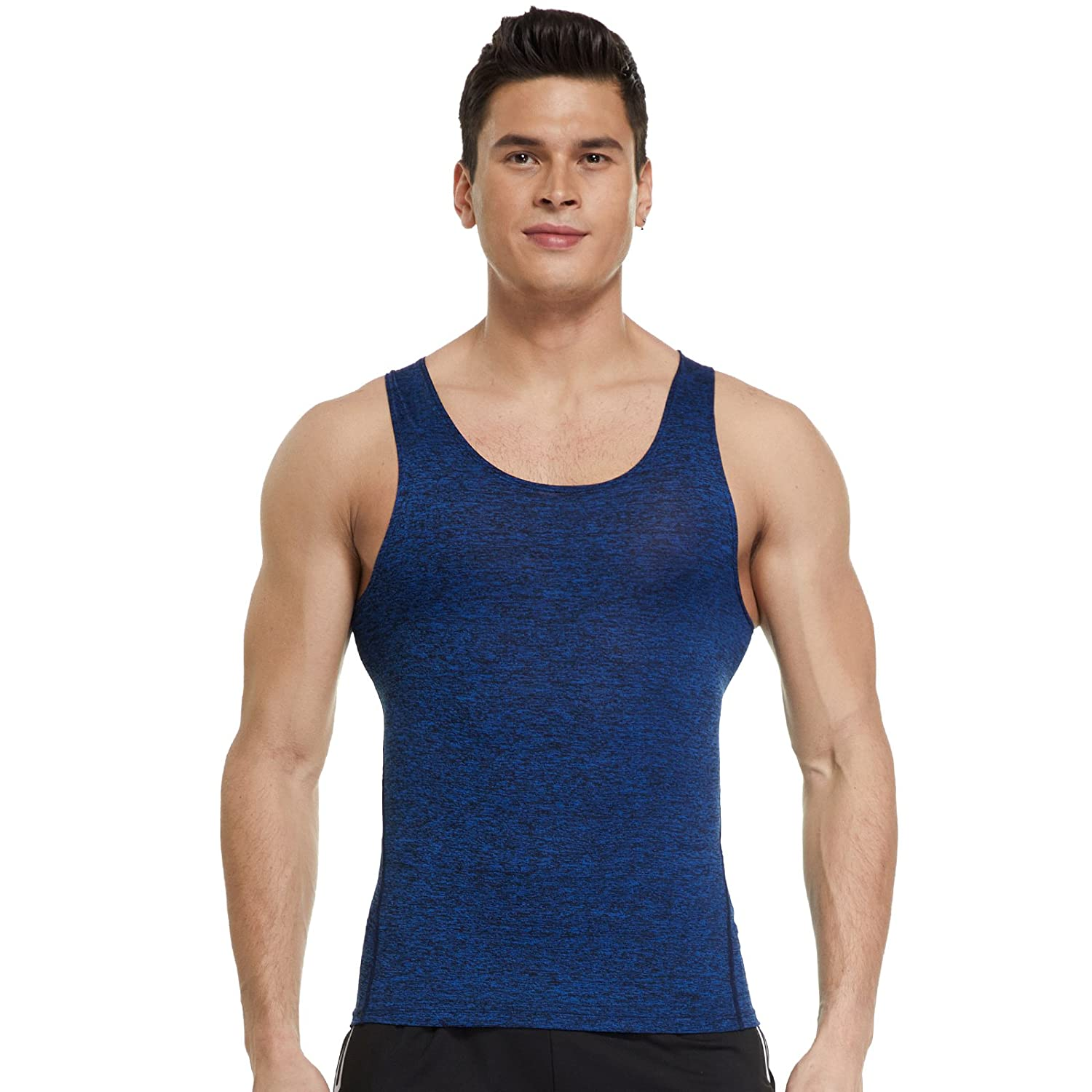 Joyshaper Compression Vest Top Men Quick Dry Fit Sweat Tank Shirt T-Shirt Tee Activewear Sleeveless Sports Workout Athletic Fitness Running