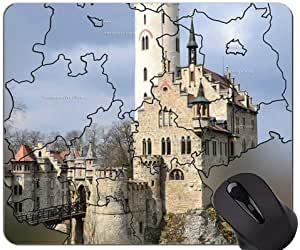 Custom Original Mouse Pad,Germany Map Theme Mouse Pads Size:30X25X0.3CM