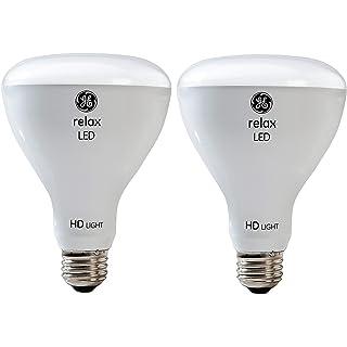 GE Lighting Relax LED HD 10-watt (65-watt Replacement), 650-Lumen R30 Light Bulb with Medium Base, Soft White, 2-Pack