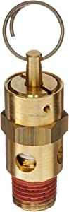"Control Devices ST Series Brass ASME Safety Valve, 150 psi Set Pressure, 1/4"" Male NPT"