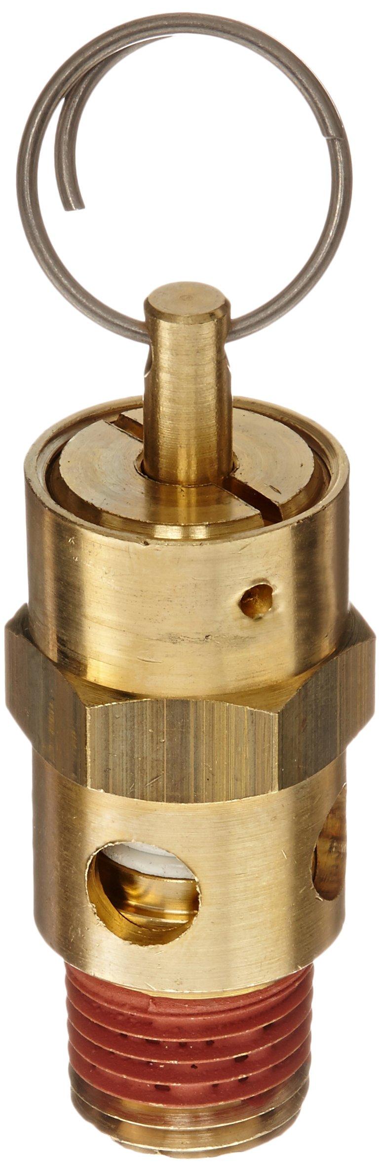 Control Devices ST Series Brass ASME Safety Valve, 150 psi Set Pressure, 1/4'' Male NPT
