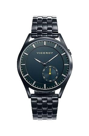 Viceroy Reloj Multiesfera para Hombre de Cuarzo con Correa en Acero Inoxidable 471107-37: Amazon.es: Relojes