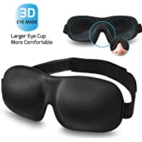 Eye mask - sleeping eye mask for travel,filled with memory foam,comfortable and soft 3D sleeping mask【Cloudin】Black
