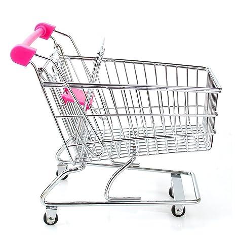 Romote Mini carro de compras supermercado carros de mano Carro con asiento de Rolling Ruedas niños