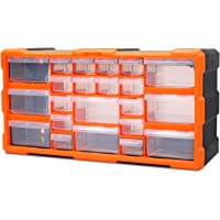 HORUSDY 22 Drawers Storage Cabinet Tool Box Bin Chest Case Plastic Organiser Toolbox