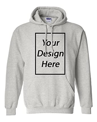 bbfae8c5 Add Your Own Text and Design Custom Personalized Sweatshirt Hoodie (Small,  Ash Gray)