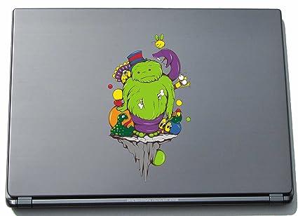 Indigos UG clm005-150 - Pegatina para ordenador portátil, diseño Funny little Monster Green