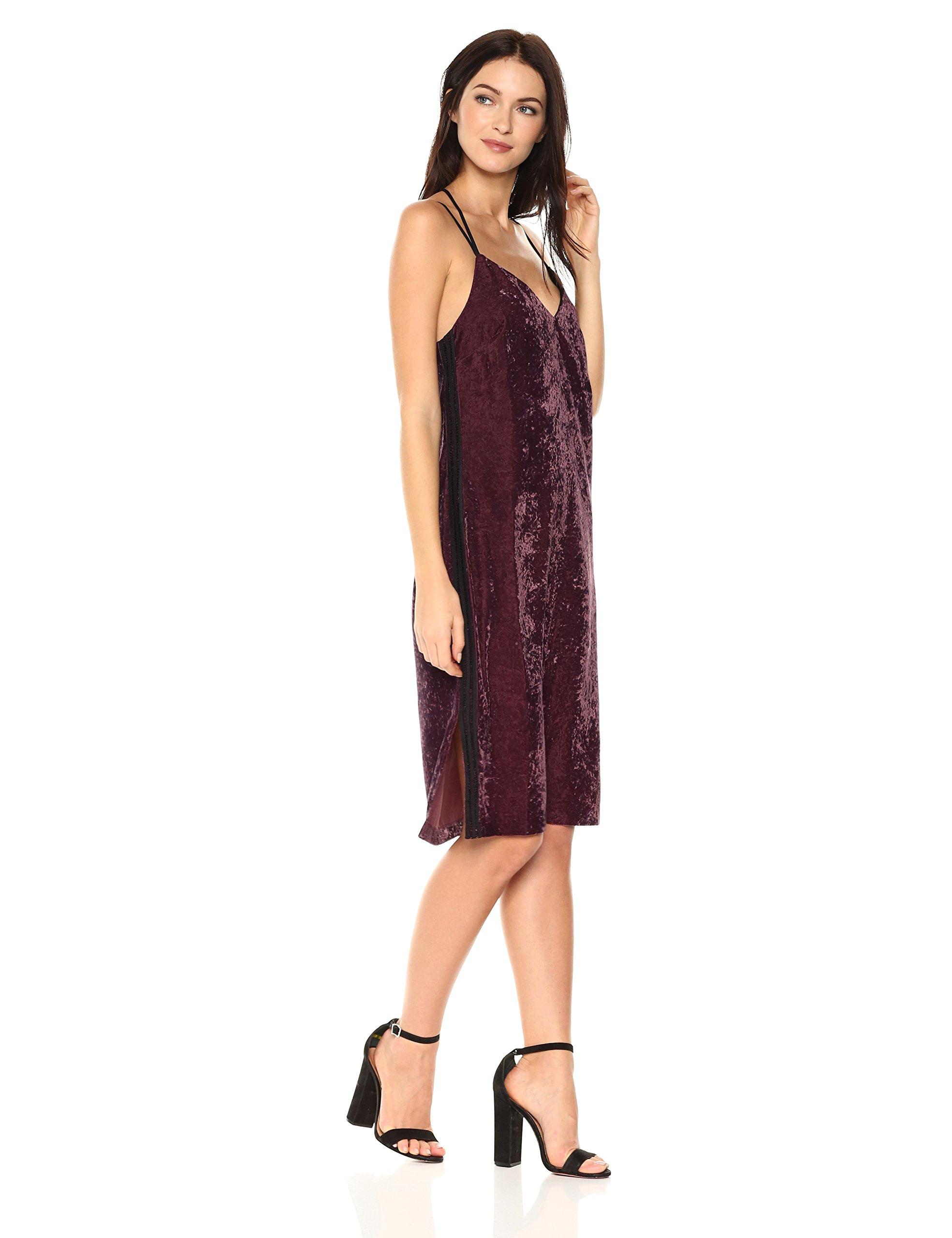Splendid Women's Crushed Velvet Cami Dress, Deep Plum, XS by Splendid