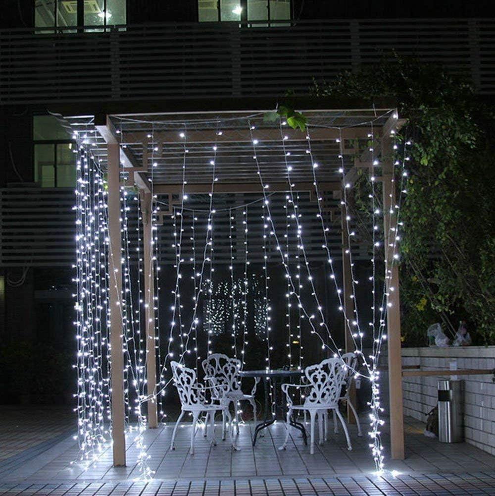 Boek 304 LED Cortina de Ventana Cadena de luz 8 Modos de ...