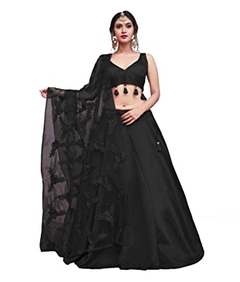 3a42f7806 sk.industry Lahanga Choli For Women (Black): Amazon.in: Clothing &  Accessories