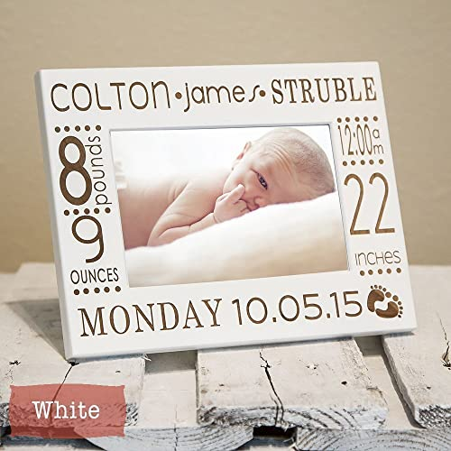 Amazon.com: Birth Announcement Frame Personalized Engraved With Baby ...