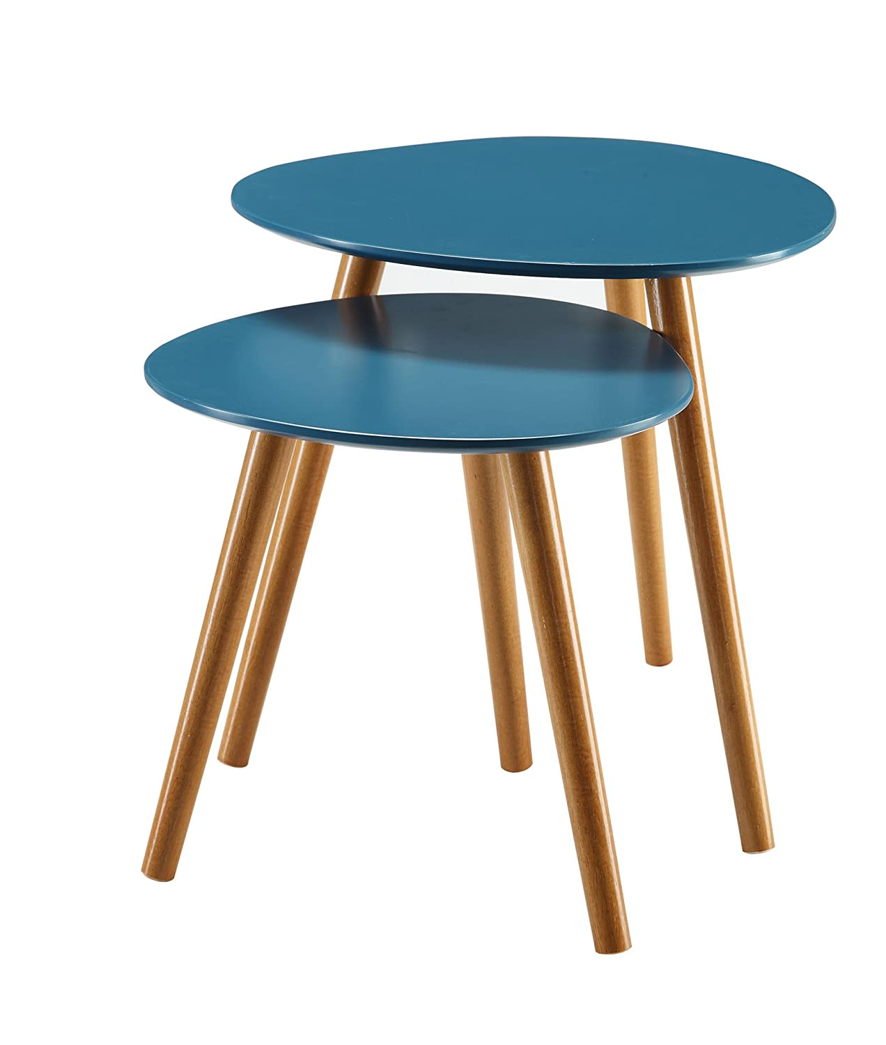 Convenience Concepts Oslo Nesting End Tables, Blue 203542BE