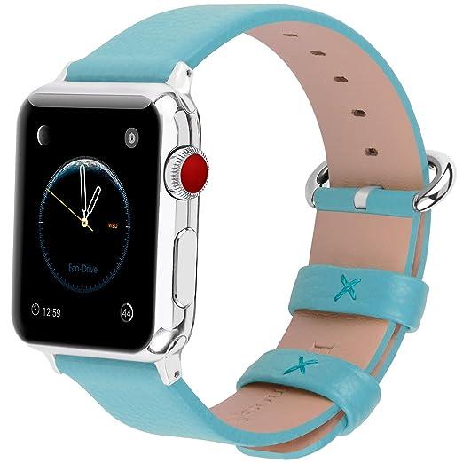 102 opinioni per Apple Watch Cinturino, Fullmosa®Yan Serie Cinturino di Vera Pelle y Particella