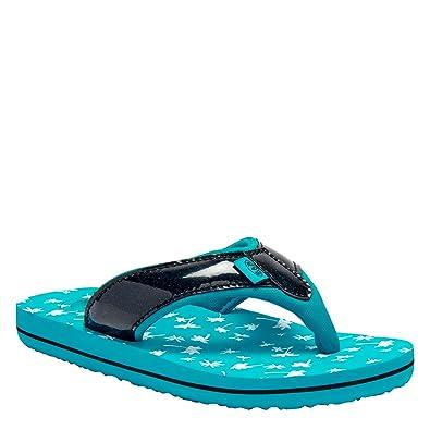 8aac9ef1e4a06d Animal Childrens Girls Swish Glitz Flip Flops (12 UK Junior) (Bluebird Blue)
