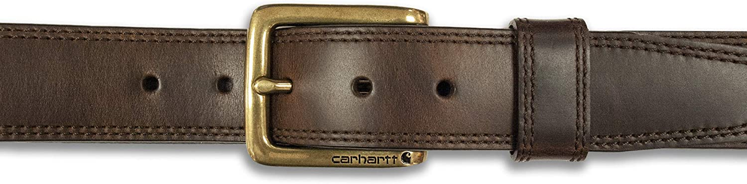 Carhartt Mens Double Row Stitching Snap Fasteners Brass Buckle