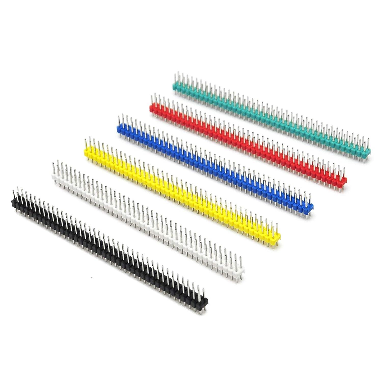 lot de 30/pcs Gikfun 2//× 40pin Secable broches 2.54/mm Male Straight connecteur /à broches pour Arduino DIY Ek1933u