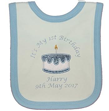 Awe Inspiring Baby Boys Personalised 1St Birthday Cake Bib Cake Smash White Personalised Birthday Cards Sponlily Jamesorg