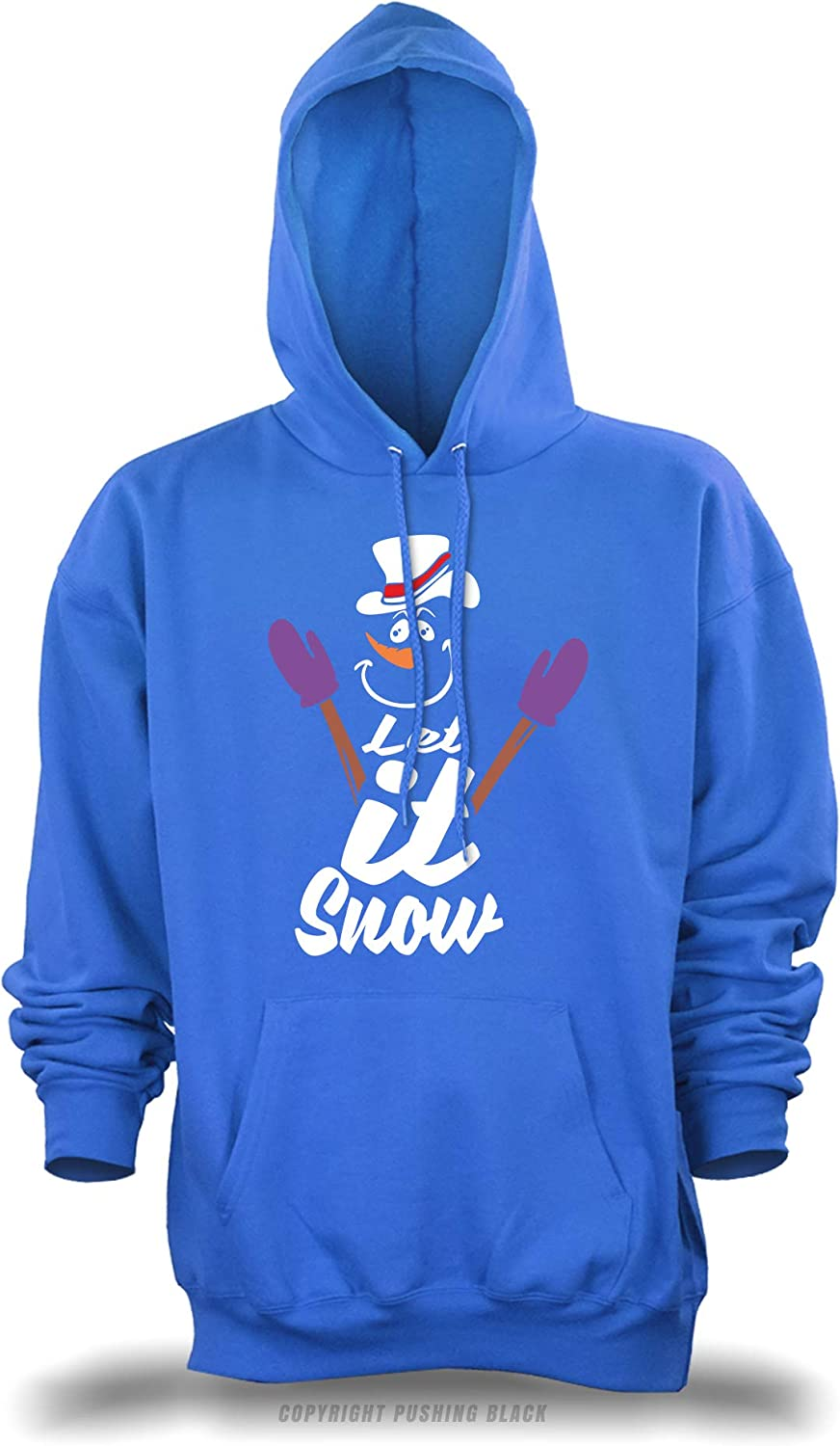 Let It Snow Snowman with Hat and Gloves Unisex Pullover Hoodie