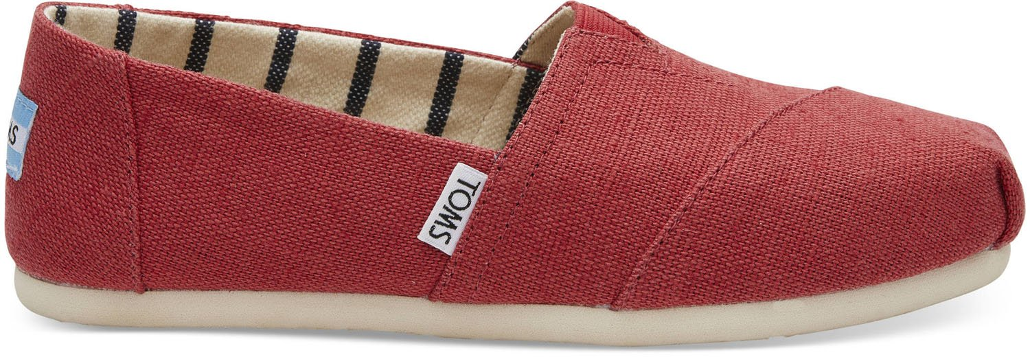 TOMS Apple Red Heritage Canvas Women's Classics 10012649 (Size: 8)