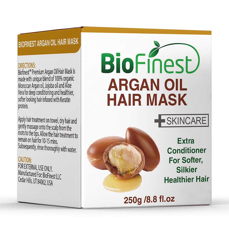 Amazon Com Biofinest Argan Oil Hair Mask With 100 Organic Jojoba