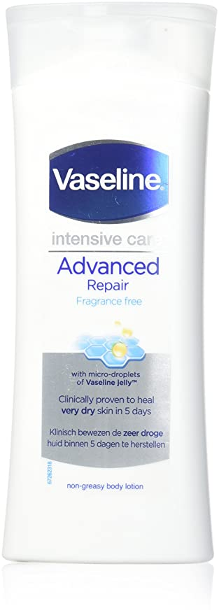 Amazon Com Vaseline Intensive Care Advanced Repair Fragrance Free Body Lotion 400 Ml Wit Beauty
