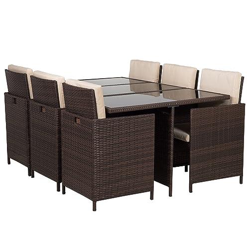 Bella Life Rattan Garden Furniture: Rattan Cube Garden Furniture Set 8 Seater Outdoor Wicker
