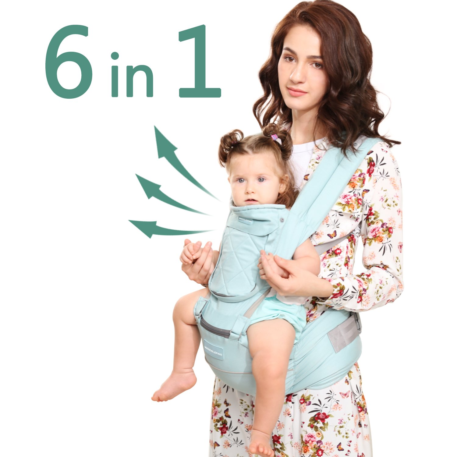 Windsleeping Baby Carrier Portable Front Baby Sling Detachable Perfect for Nursing 3 Months to 24 Months Infant and Toddlers - Dark Blue 00111