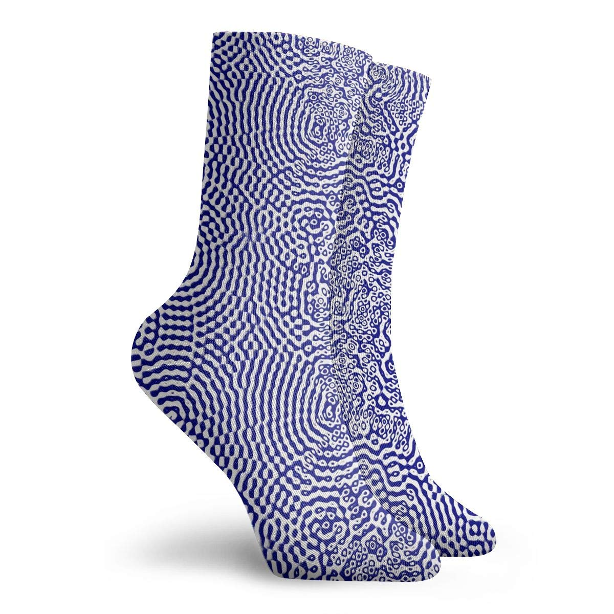 Women Men Water Texture Pattern Cushion Crew Socks