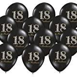 12 palloncini 18. Compleanno, nero brillante, decorazione per feste – Kleenes Traumhandel®