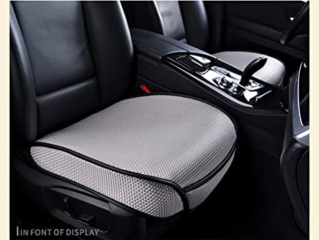 DINKANUR Front Car Seat Covers Ice Silk Cushions Interior Decoration Anti Skid Mats
