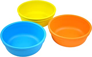 product image for Re-Play Made in USA 3pk 12 oz. Bowls in Sky Blue, Yellow and Orange | Made from Eco Friendly Heavyweight Recycled Milk Jugs and Polypropylene - Virtually Indestructible (Spring)